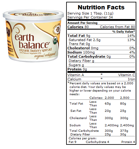 Earth balance ingredients
